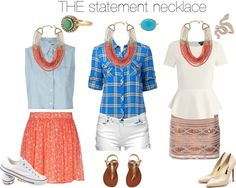"""The Statement Necklace"" by melandg on Polyvore"