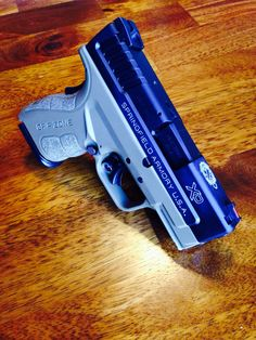 Springfield Armory XD Mod 2 9mm, flat dark earth. Awesome right out of the box.