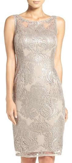 1ec117d1420c Adrianna Papell Sequin Lace Sheath Dress Groom Dress, Adrianna Papell,  Nordstrom Dresses, Lace
