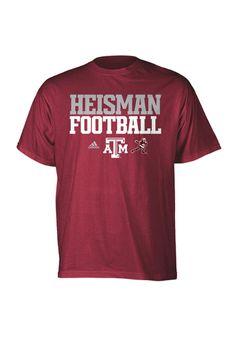 Texas A http://www.rallyhouse.com/shop/texas-am-aggies-adidas-texas-am-aggies-adidas-tshirt-mens-maroon-red-heisman-football-tshirt-14854122 $24.00