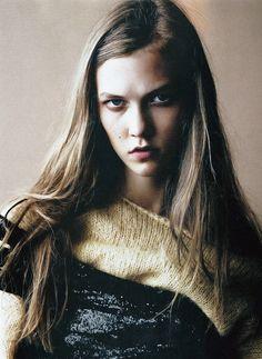Magazine: Russh September 2008  Photographer: Benny Horne  Model: Karlie Kloss