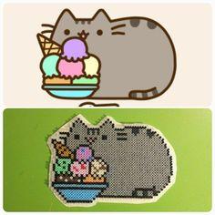 Pusheen the Cat hama mini beads by b.dawg.skip