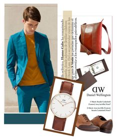"""""""Look awesome"""" by janee-oss ❤ liked on Polyvore featuring moda, Royce Leather, Elvis & Kresse e Daniel Wellington"""