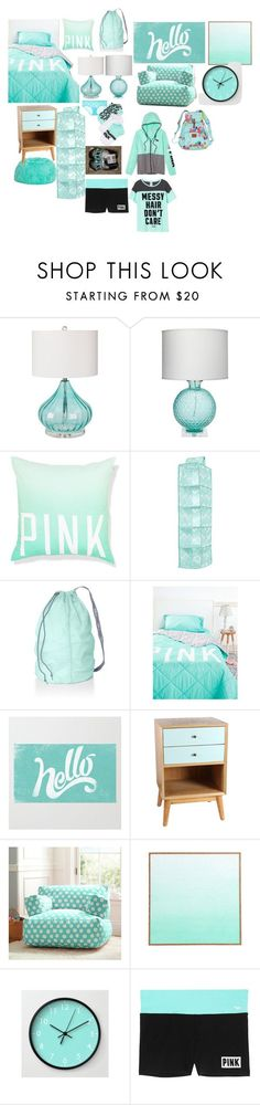 """""""Teen bedroom"""" by turnerjazmyne on Polyvore featuring interior, interiors, interior design, home, home decor, interior decorating, Surya, Jamie Young, Victoria's Secret PINK and Antique Revival"""