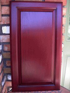The Red Paint Is Ralph Lauren S Venetian Red Th49 The Black Paint In The Glaze Red Cabinetskitchen