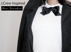 DIY J.Crew Inspired Bow Sweater ||