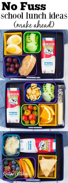 Fast and healthy school lunch ideas and tips! These make ahead lunch ideas save . - Fast and healthy school lunch ideas and tips! These make ahead lunch ideas save you time and effort - Healthy School Snacks, Kids Lunch For School, Healthy School Lunches, Make Ahead Lunches, Healthy Eating, Eating Clean, Lunch Kids, Healthy Lunches For Kids, Eating Fast