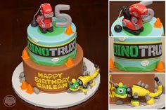 Dinotrux cake.