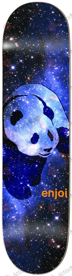 Enjoi Cosmos Panda R7 - Blue/Black - 8.0 - Skateboard Deck - Enjoi - Decks - Skate