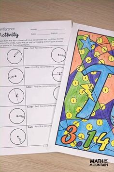 Fun and Rigorous Activities You Need to Try on Pi Day Color Activities, Math Activities, Middle School, High School, Maths Area, Math Notes, Algebra 1, Pi Day, Activity Ideas