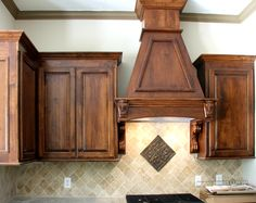 Knotty Hickory Cabinets-perhaps I could use a gel stain to darken them to look like this??