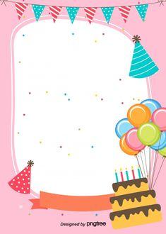 The Birthday Party Poster- El Cartel De La Fiesta De Cumpleaños The Birthday Party Poster - Happy Birthday Template, Happy Birthday Frame, Happy Birthday Posters, Simple Birthday Cards, Birthday Frames, Golden Birthday Parties, Colorful Birthday Party, Birthday Wishes, Birthday Background Design