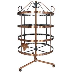 92 pairs Copper Color Rotating Earring Holder / Earring Tree / Earring Organi...