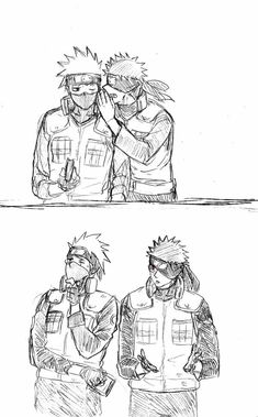 Kakashi and Obito. Cute.