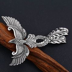 Mythological Phoenix Pendant and Stainless Steel or Leather Necklace Target, Deep, Stainless Steel Jewelry, Leather Necklace, Metal Jewelry, Mythology, Phoenix, Jewelry Gifts, Fit