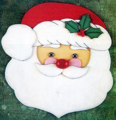 Manualidades Navideñas en Foami: Carita de Santa Clos ~ lodijoella