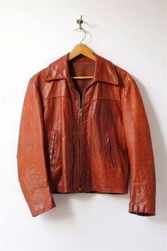1970's men's leather jacket, 40