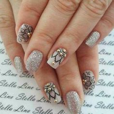 Posted by Brusilla Fancy Nails, Pretty Nails, My Nails, Finger, Nail Art Photos, Basic Nails, Beautiful Nail Art, Manicure And Pedicure, Nails Inspiration