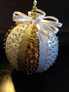 Handmade sequin ornament on Etsy, $18.00