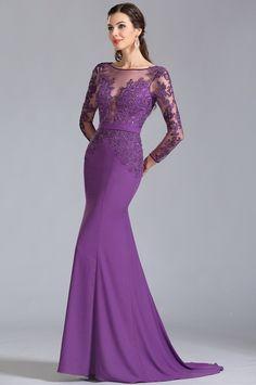 Purple Evening Dress, Formal Evening Dresses, Formal Gowns, Elegant Dresses, Evening Gowns, Nice Dresses, Girls Dresses, Dress Formal, Formal Wear