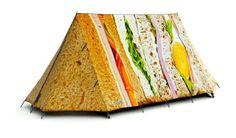 Picnic Perfect Tent - Amazing 2 Man Camping Tent that looks like a Sandwich. High Specification, Waterproof A-Frame Tent for 4 Season Use. Camping 2, Camping Stuff, Camping Hacks, Camping Friends, Funny Camping, Camping Humor, Camping Trailers, Camping Theme, Family Camping
