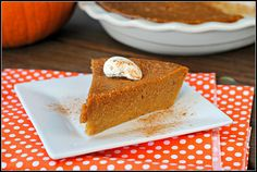 Totally healthy, delicious, guiltless, tasty, awesome, crustless, rock-your-world pumpkin pie