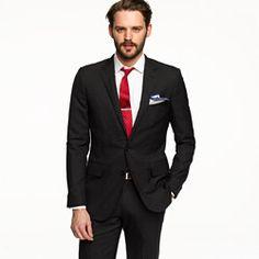 Aldridge two-button suit jacket with center vent in Italian wool #wedding #groom #groomsmen #jcrew