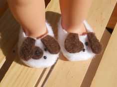 Today's post I am sharing is a favorite of mine. I found this great Etsy shop that makes the most adorable doll slippers!      Sherri Duin...