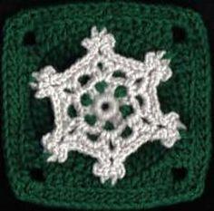 Snowflake Lace Square