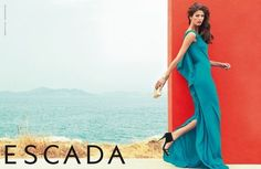 Escada Spring 2013: Kendra Spears photographed by Claudia Knoepfel and Stefan Indlekofer.    Photos courtesy of Escada