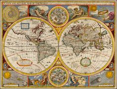 1651 A New and Accurat Map of the World Drawne according to ye truest Descriptions lastest Discoveries & best observations yt have beene made by English or Strangers by John Speed, London