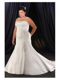 Unique Plus Size Wedding Dresses   Home :: Wedding dresses :: Plus size wedding dresses :: Unique Satin ...