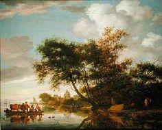 Salomon van Ruysdael - Rural River Landscape