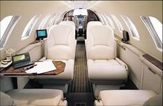 Citation Bravo private jet interior #aviation