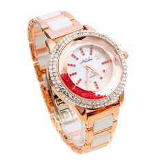 watch white ceramic band ladies watch vintage table watch ladies watch ...