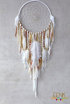 ❁~Atrapa Sueños ~❤ Dream Catcher Boho Gold Dreamcatcher