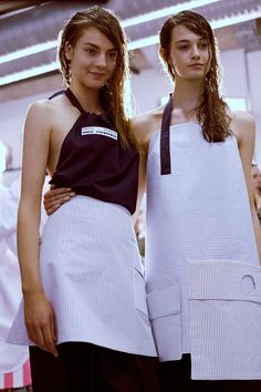 Backstage at Jacquemus Dazed Fashion Shoot, Runway Fashion, Fashion Details, Fashion Design, Tie Styles, Apron Dress, Ss 15, Get Dressed, New Outfits