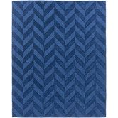 Found it at Wayfair - Central Park Navy Chevron Carrie Area Rug  All wool $364