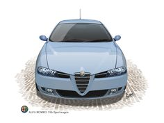 Alfa Romeo 156 Sport Wagon  (private car)(Vector Illustration)