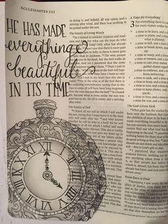 Ecclesiastes 3:11 bible journal