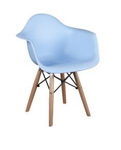 Kinderstoel in DAW Style in lichtblauw / Chair for kids in DAW Style in light blue