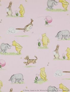 Tapet Winnie The Pooh & Friends Pink 708kr/rulle.