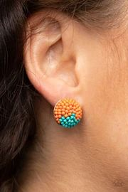 Paparazzi Jewelry Catalog - JewelryBlingThing.com Paparazzi Jewelry Catalog, Paparazzi Accessories, Fashion Earrings, Fashion Jewelry, Fashion Accessories, Orange Earrings, Orange And Turquoise, Bead Earrings, Seed Beads