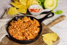 Mexicaanse pulled chicken Healthy Desserts, Healthy Recipes, Pulled Chicken, Mexican Food Recipes, Ethnic Recipes, Yummy Food, Tasty, Happy Foods, Meal Planner