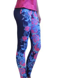 Om Shanti Clothing - Navy Floral Legging