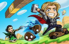Super Odinson Bros. by ~Nanaga #nintendo #mario #thor #mashup