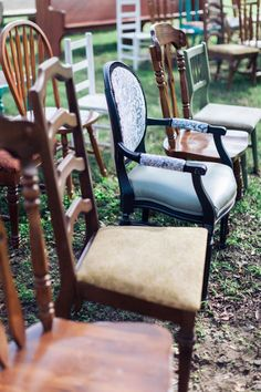 Chelsea and Jared's 60 Guest, $6,000 Vintage At-Home Louisiana Wedding. Micahla Wilson Photography. See more @intimateweddings.com #weddingseating #realwedding
