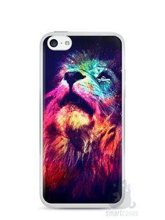 Capa Iphone 5C Leão Colorido #3 - SmartCases - Acessórios para celulares e…