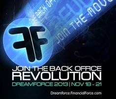 Join the back office revolution at #Dreamforce 2013 with FinancialForce.com. #DF13