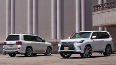 ランクル200ZX(エルフォードマフラー付きバンパー) & レクサスLX570(ガナドールマフラー) カスタムデモカー Toyota Landcruiser200 and Lexus LX570